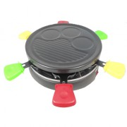 GRILL RACLETTE ROND COLORE